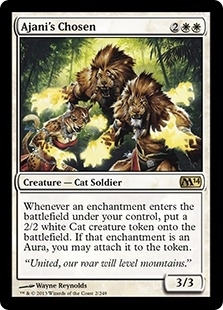Magic the Gathering 2014 Single Ajaini's Chosen - NEAR MINT (NM)