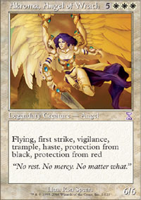 Magic the Gathering Time Spiral Single Akroma, Angel of Wrath - SLIGHT PLAY (SP)