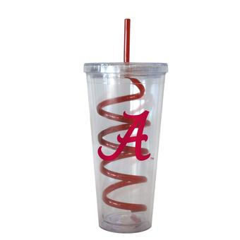 Alabama Crimson Tide Boelter NCAA 22oz Plastic Roll Tide Slogan Tumbler With Straw