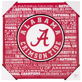 Alabama Crimson Tide Artissimo Typography 13x13 Canvas