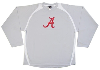 Alabama Crimson Tide Genuine Stuff Grey Performance Shirt (Size Large)
