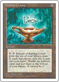 Magic the Gathering 4th Edition Single Aladdin's Lamp - NEAR MINT (NM)