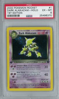 Pokemon Team Rocket 1st Edition Dark Alakazam 1/82 Holo Rare PSA 6