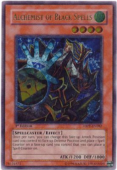 Yu-Gi-Oh Absolute Powerforce Single Alchemist of Black Spells Ultimate Rare