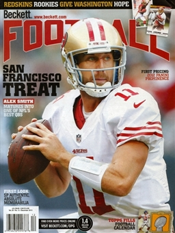 2012 Beckett Football Monthly Price Guide (#263 December) (Alex Smith)