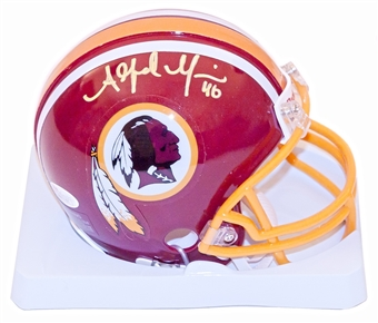 Alfred Morris Autographed Washington Redskins Mini Helmet (JSA)