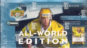 2004/05 Upper Deck All-World Edition Hockey Hobby Box