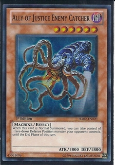 Yu-Gi-Oh Hidden Arsenal 2 Single Ally of Justice Enemy Cathcher 3x Super Rare