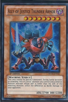 Yu-Gi-Oh Hidden Arsenal 2 Single Ally of Justice Thunder Armor 3x Super Rare