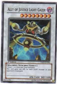 Yu-Gi-Oh Shining Darkness Single Ally of Justice Light Gazer Super Rare