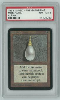 Magic the Gathering Alpha Single Mox Pearl PSA 8