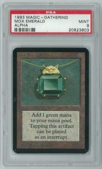 Magic the Gathering Alpha Single Mox Emerald PSA 9