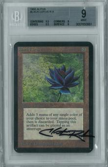 Magic the Gathering Alpha Single Black Lotus BGS 9 -  *0007650961*  EXTREMELY RARE Artist signed case!