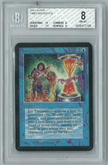 Magic the Gathering Alpha Single Timetwister BGS 8.0 NM-MT (10,8,7,8)