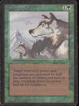 Magic the Gathering Alpha Single Aspect of Wolf - MODERATE PLAY (MP)