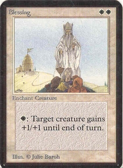 Magic the Gathering Alpha Single Blessing UNPLAYED (NM/MT)