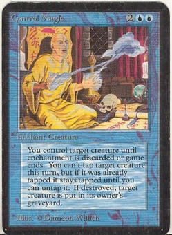 Magic the Gathering Alpha Single Control Magic - SLIGHT PLAY (SP)