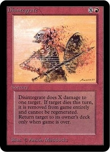 Magic the Gathering Alpha Single Disintegrate - NEAR MINT (NM)