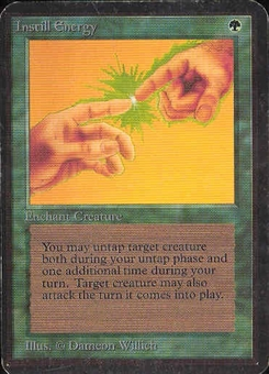 Magic the Gathering Alpha Single Instill Energy - SLIGHT PLAY (SP)