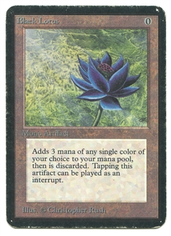 Magic the Gathering Alpha Single Black Lotus - MODERATE PLAY (MP)