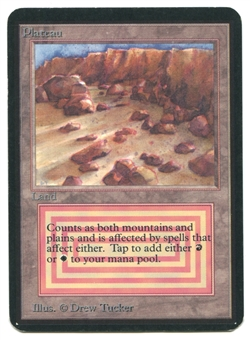 Magic the Gathering Alpha Single Plateau - SLIGHT / MODERATE PLAY (SP/MP)