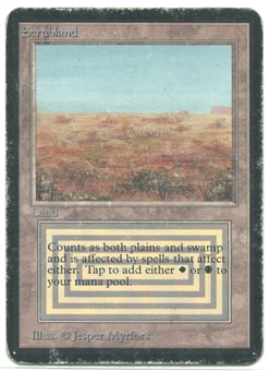 Magic the Gathering Alpha Single Scrubland - HEAVY PLAY (HP)