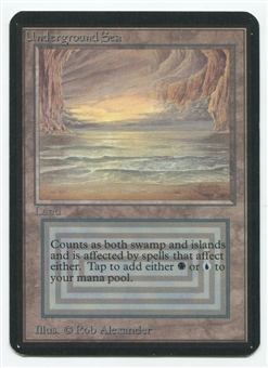Magic the Gathering Alpha Single Underground Sea - SLIGHT PLAY (SP)