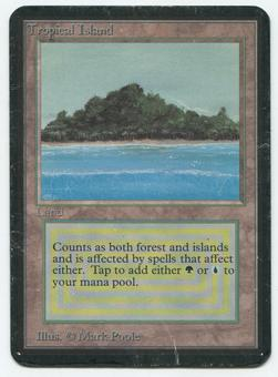 Magic the Gathering Alpha Single Tropical Island - HEAVY PLAY (HP)