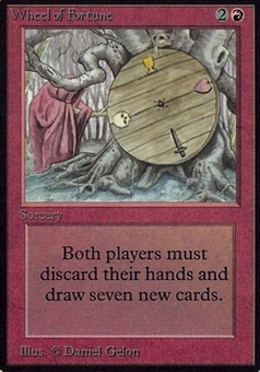 Magic the Gathering Alpha Single Wheel of Fortune - MODERATE PLAY (MP)
