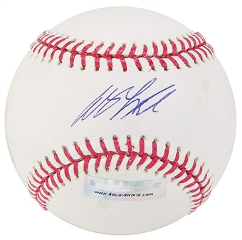 Andy LaRoche Autographed Baseball (Slightly Stained) (DACW COA)