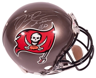 Mike Alstott Autographed Tampa Bay Buccaneers Authentic Proline Helmet Mounted Memories