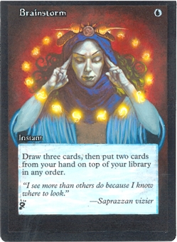 Magic the Gathering Mercadian Masques Single Brainstorm - ALTERED ART