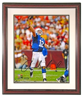 Andrew Luck Autographed Indianapolis Colts Framed 16x20 Photo (Panini)