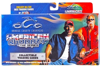 Orange County Choppers American Chopper Trading Card Box with Black Widow Bike