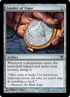 Magic the Gathering Worldwake Single Amulet of Vigor FOIL - SLIGHT PLAY (SP)