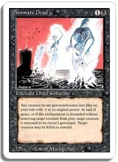 Magic the Gathering 3rd Ed (Revised) Single Animate Dead - NEAR MINT (NM)