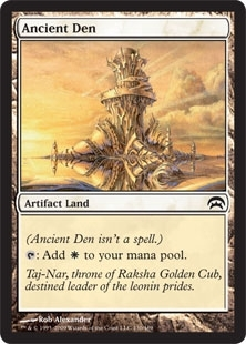 Magic the Gathering Mirrodin Single Ancient Den - NEAR MINT (NM)