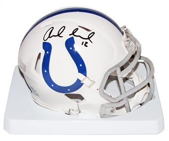 Andrew Luck Autographed Indianapolis Colts Speed Mini Helmet (Panini Authentics)
