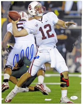Andrew Luck Autographed Stanford University Cardinal 11x14 Photograph (JSA)