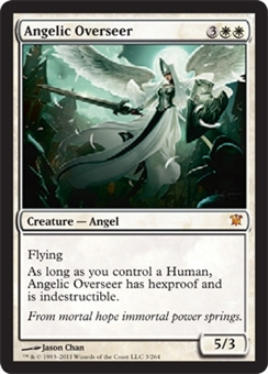 Magic the Gathering Innistrad Single Angelic Overseer - NEAR MINT (NM)