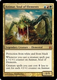 Magic the Gathering Commander Single Animar, Soul of Elements UNPLAYED (NM/MT)