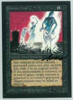 Magic the Gathering Beta Artist Proof Orcish Artillery - SIGNED BY ANSON MADDOCKS