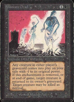 Magic the Gathering Alpha Single Animate Dead - HEAVY PLAY (HP)