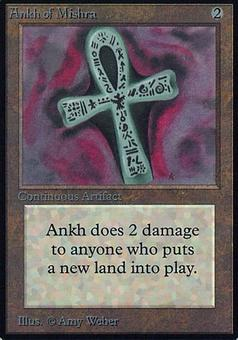 Magic the Gathering Alpha Single Ankh of Mishra - MODERATE PLAY (MP)