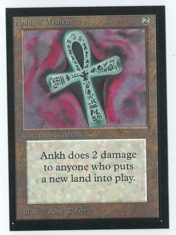 Magic the Gathering Beta Artist Proof Ankh of Mishra - SIGNED BY AMY WEBER