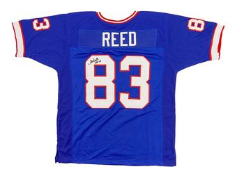 Andre Reed Autographed Buffalo Bills Blue Football Jersey HOF 14 (JSA COA)