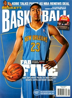 2013 Beckett Basketball Monthly Price Guide (#244 January) (Anthony Davis)