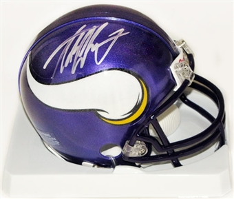 Adrian Peterson Autographed Minnesota Vikings Football Mini-Helmet