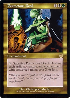 Magic the Gathering Apocalypse Single Pernicious Deed - SLIGHT PLAY (SP)