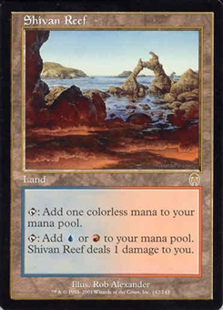 Magic the Gathering Apocalypse Single Shivan Reef UNPLAYED (NM/MT)